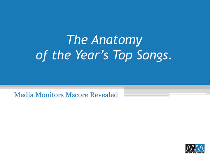 The Anatomy of the Year's Top Songs 2012