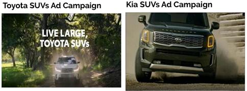 Toyota-Kia SUV Campaigns